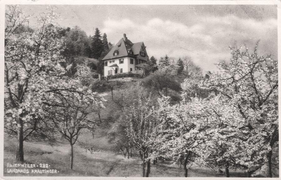 """Das ehemalige """"Landhaus Krautinger"""" 1936"""